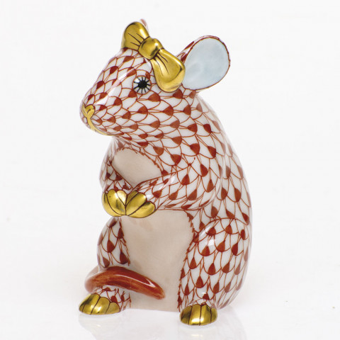 Shaded Vh Mouse With Bow 2 in. l X 1.5 in. w X 2.5 in. h | Gracious Style