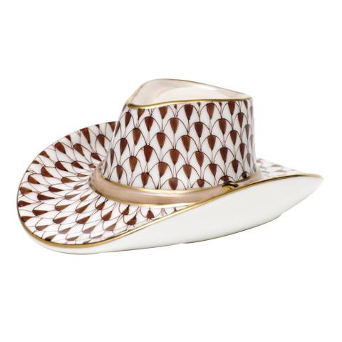 "Cowboy Hat 3.25""L X 1.25""H Shaded Vhbr2 | Gracious Style"