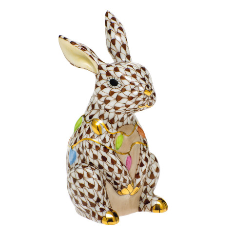 Shaded Vhbr2 Bunny With Christmas Lights 2 in. l X 1.75 in. w X 3.5 in. h | Gracious Style