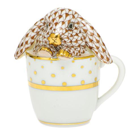Shaded Vhbr2 Tea Cup Bunny 2.25 in. l X 1.75 in. w X 2.5 in. h   Gracious Style