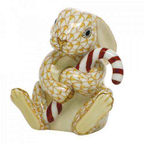 Shaded Vhj Candy Cane Bunny 2.5 in. l X 2.75 in. h | Gracious Style
