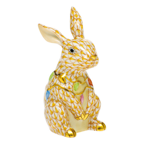 Shaded Vhj Bunny With Christmas Lights 2 in. l X 1.75 in. w X 3.5 in. h | Gracious Style