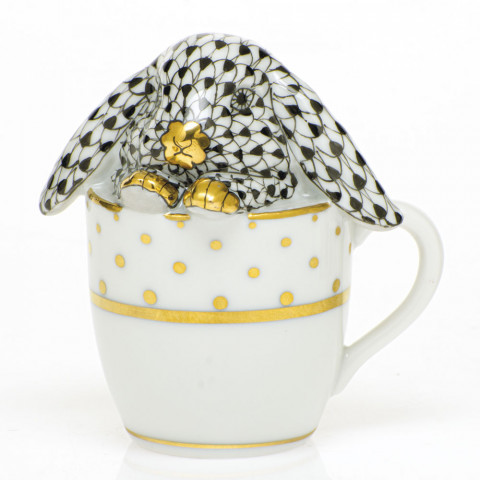 Shaded Vhnm Tea Cup Bunny 2.25 in. l X 1.75 in. w X 2.5 in. h | Gracious Style