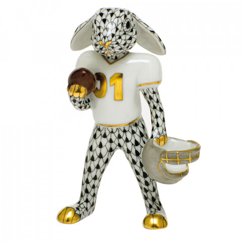 Shaded Vhnm Football Bunny 2.5 in. l X 1.25 in. w X 3.75 in. h | Gracious Style