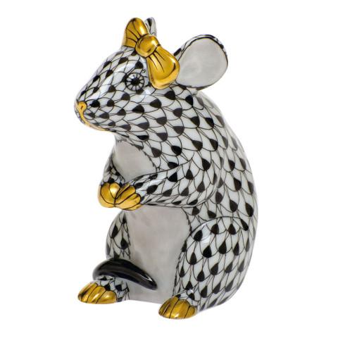 Shaded Vhnm Mouse With Bow 2 in. l X 1.5 in. w X 2.5 in. h | Gracious Style