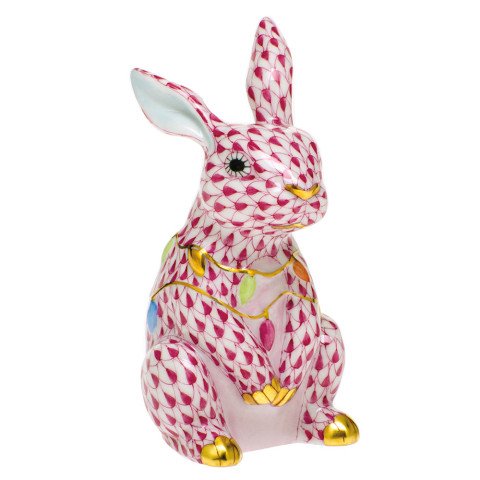 Shaded Vhp Bunny With Christmas Lights 2 in. l X 1.75 in. w X 3.5 in. h | Gracious Style