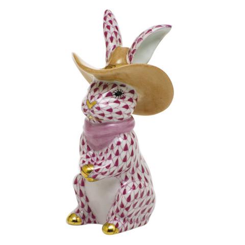 "Shaded Vhp Cowboy Bunny 2""L X 2""W X 3.5""H   Gracious Style"