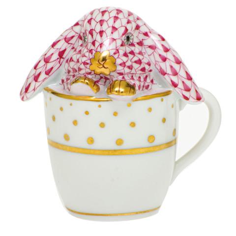 Shaded Vhp Tea Cup Bunny 2.25 in. l X 1.75 in. w X 2.5 in. h | Gracious Style