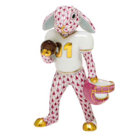 Shaded Vhp Football Bunny 2.5 in. l X 1.25 in. w X 3.75 in. h | Gracious Style