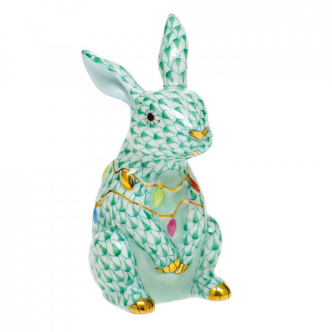 Shaded Vhv Bunny With Christmas Lights 2 in. l X 1.75 in. w X 3.5 in. h | Gracious Style