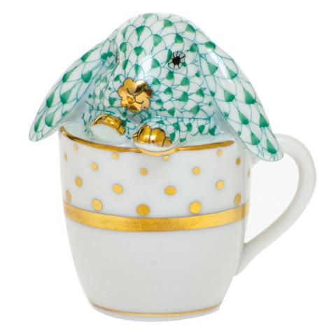 Shaded Vhv Tea Cup Bunny 2.25 in. l X 1.75 in. w X 2.5 in. h | Gracious Style