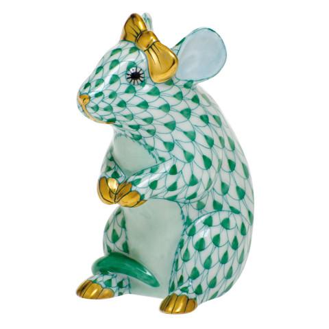 Shaded Vhv Mouse With Bow 2 in. l X 1.5 in. w X 2.5 in. h | Gracious Style
