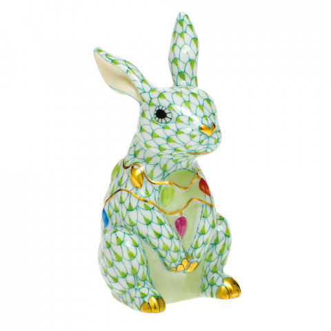Shaded Vhv1 Bunny With Christmas Lights 2 in. l X 1.75 in. w X 3.5 in. h | Gracious Style