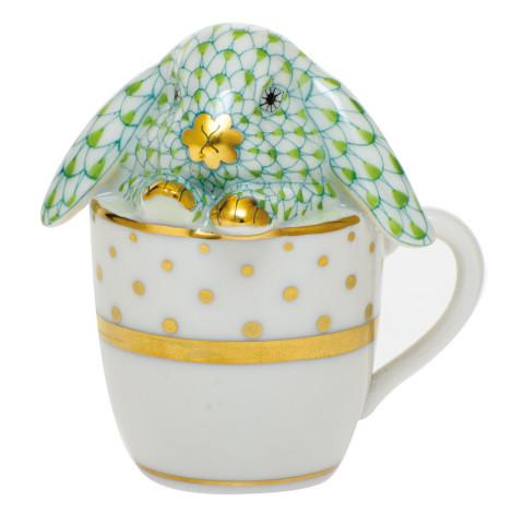 Shaded Vhv1 Tea Cup Bunny 2.25 in. l X 1.75 in. w X 2.5 in. h   Gracious Style