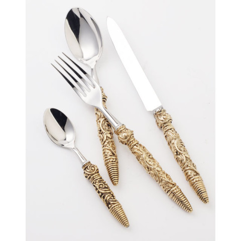 Hermitage Gold Flatware | Gracious Style