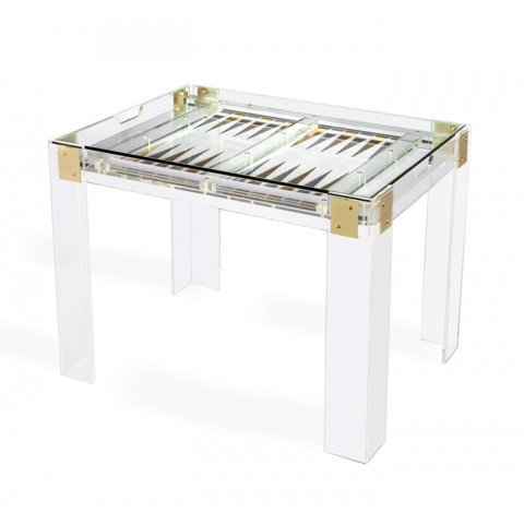 Pierre Acrylic Backgammon Table | Gracious Style