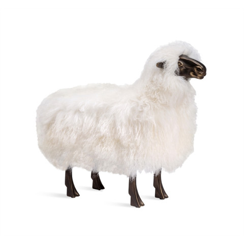 Philippe Sheep Sculpture - Ivory | Gracious Style