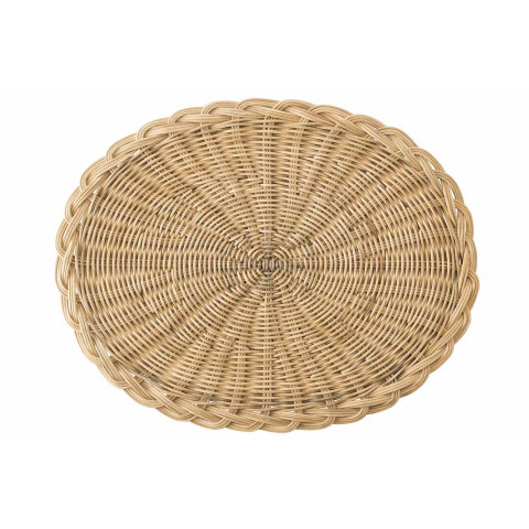 Braided Basket Oval Natural Placemat | Gracious Style
