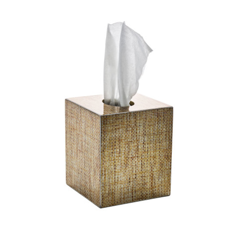 Angkor Brown/Gold Tissue Box | Gracious Style