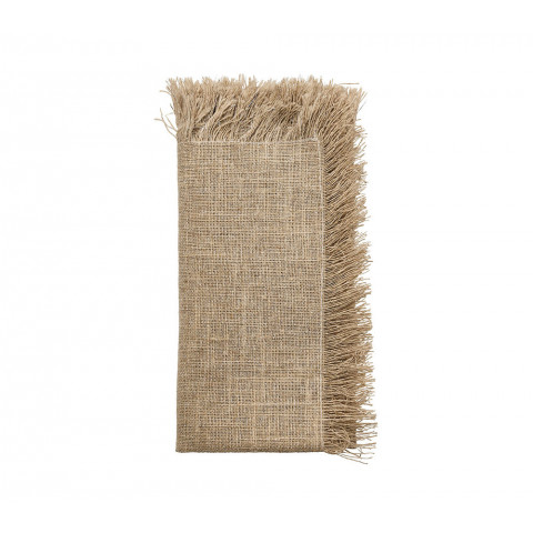 Fringe Natural/Silver Napkin | Gracious Style