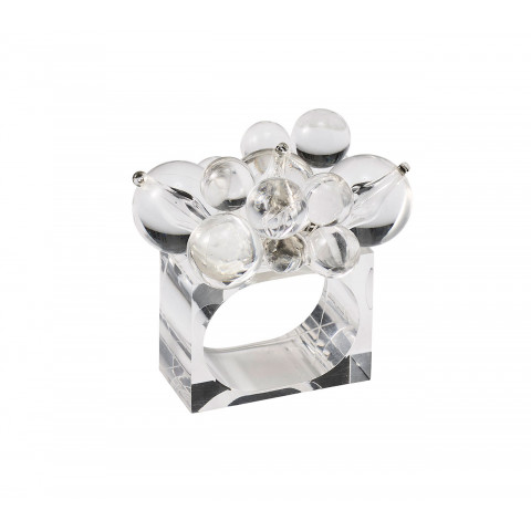 Cloud Clear Napkin Ring | Gracious Style