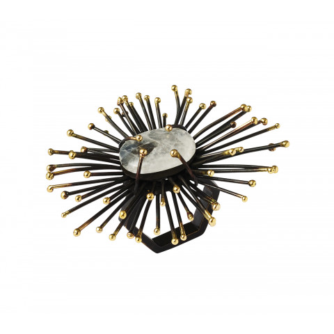 Flare Gold/Black Napkin Ring | Gracious Style