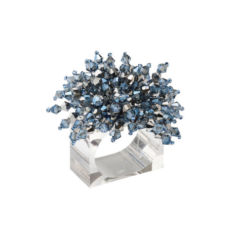 Brilliant Midnight/Silver Napkin Ring | Gracious Style
