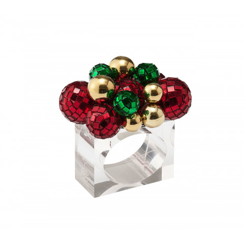 Glitz Red/Green/Gold Napkin Ring   Gracious Style