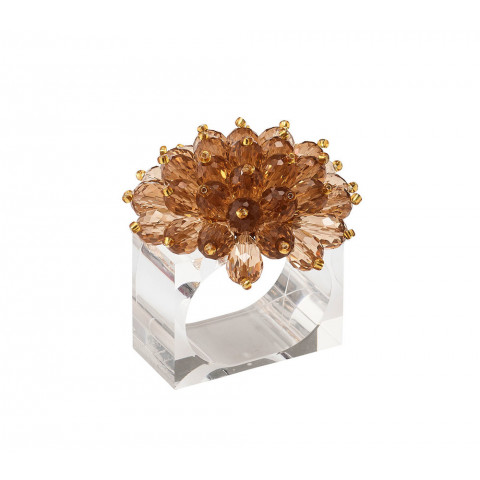 Zinnia Taupe Napkin Ring | Gracious Style