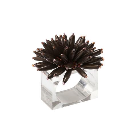 Spoke Taupe Napkin Ring | Gracious Style