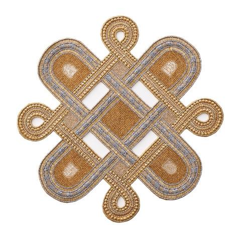Plait Gold/Silver Placemat | Gracious Style