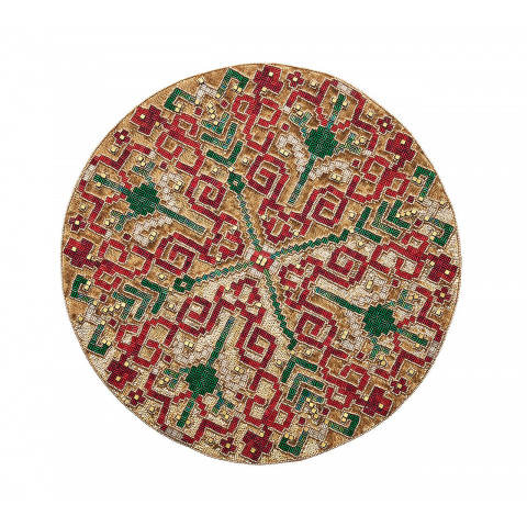 Yuletide Gold/Multi Placemat | Gracious Style
