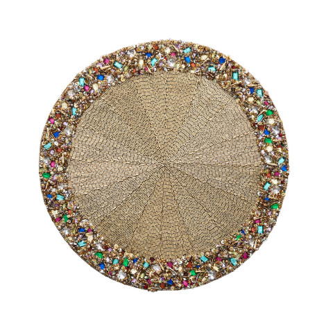 Bejeweled Gold/Multi Placemat | Gracious Style