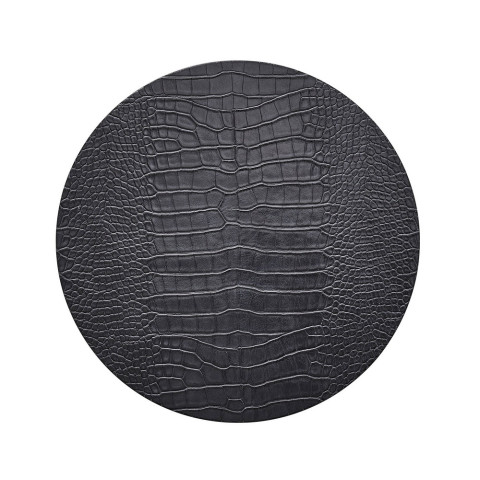 Croco Charcoal Placemat | Gracious Style