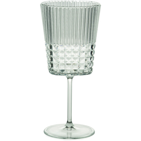 Chic And Zen Acrylic Clear Wine Glass 12.5 Oz | Gracious Style