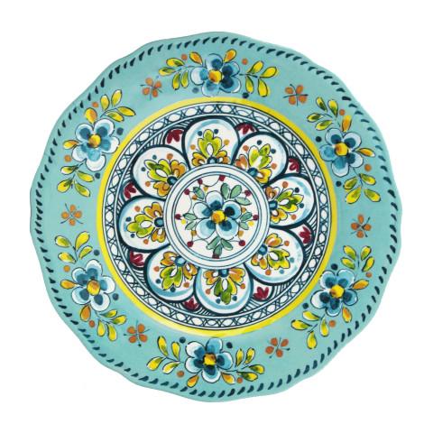 Madrid Turquoise Melamine Dinnerware | Gracious Style