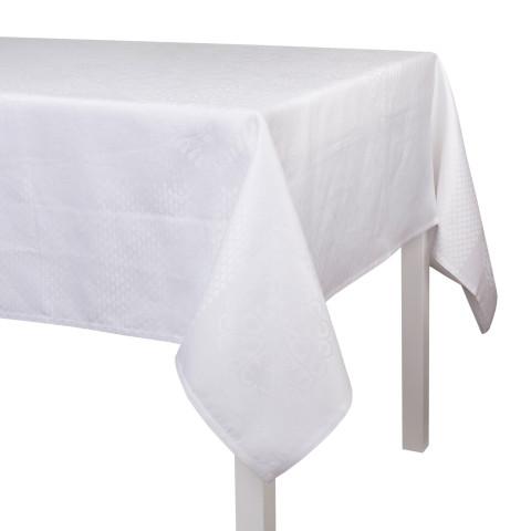 Bosphore Blanc Damask Table Linens   Gracious Style