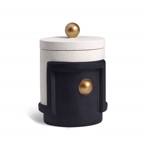 Cubisme Black and White and Gold Candle | Gracious Style