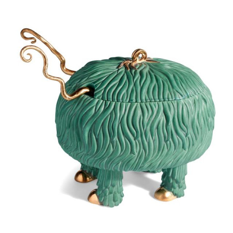 Haas Fox Salad Monster Serving Bowl Green (Special Order) | Gracious Style