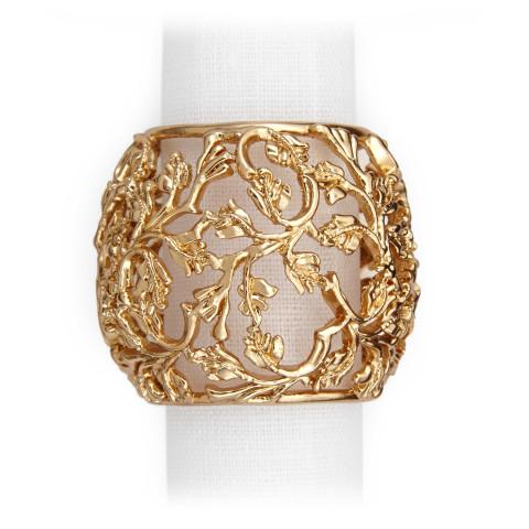 Lorel Gold Set of 4 Napkin Jewels | Gracious Style
