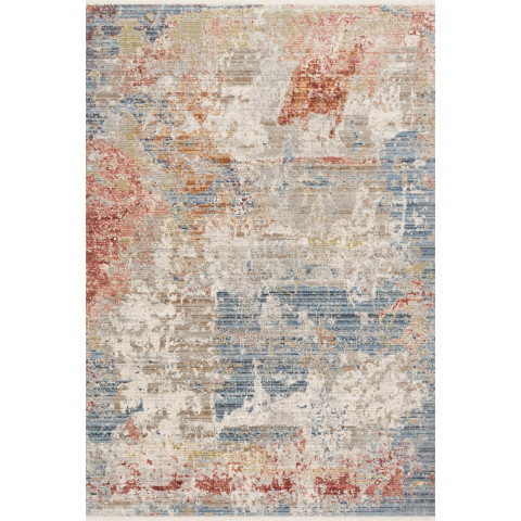 "CLAIRE CLE-07 GREY/MULTI 1'-6"" x 1'-6"" Sample Rug Swatch 