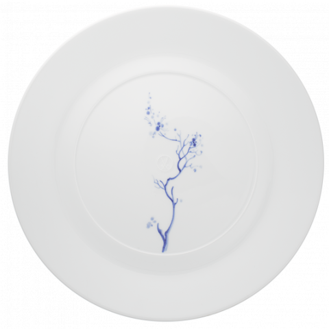 Blue Orchid Mesh White Dinnerware   Gracious Style