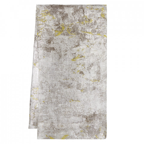 Argento Napkins Gray Metallic with Lime, Set of Four | Gracious Style