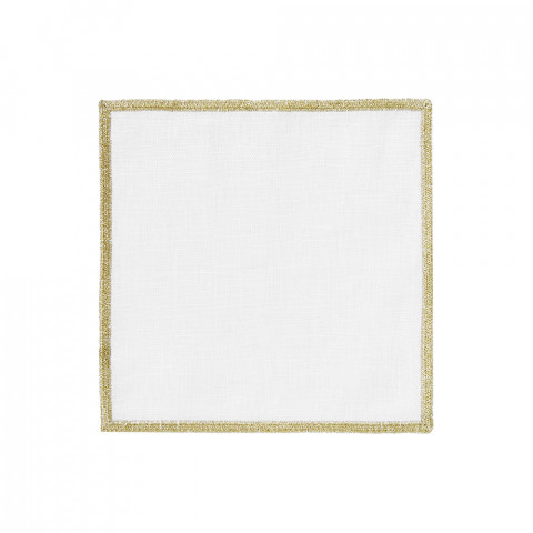 Bel Air Cocktail Napkins Gold 6 x 6 in, Set of Four | Gracious Style