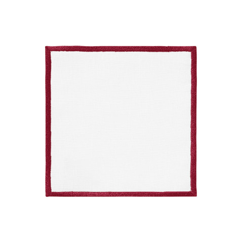 Bel Air Cocktail Napkins 6 x 6 in Metallic Red, Set of Four | Gracious Style