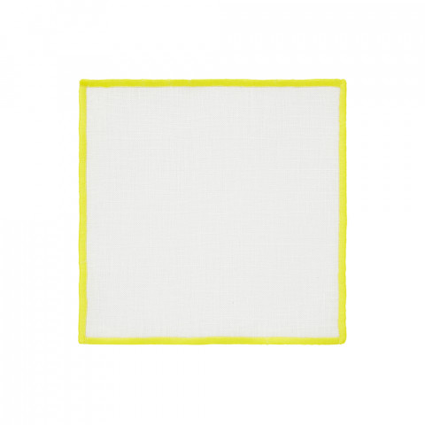 Bel Air Cocktail Napkins Yellow 6 x 6 in, Set of Four | Gracious Style