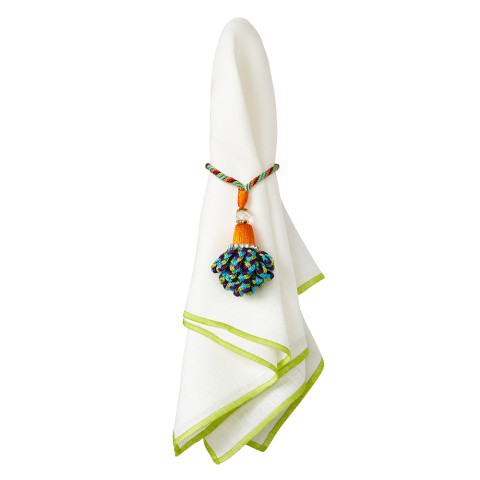 Bel Air 20 x 20 in Napkins Lime, Set of Four   Gracious Style