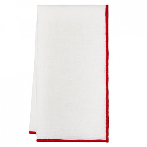 Bel Air 20 x 20 in Napkins Red, Set of Four | Gracious Style