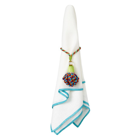 Bel Air 20 x 20 in Napkins Turquoise, Set of Four | Gracious Style