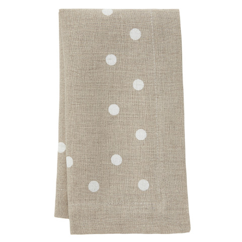 Belle 20 x 20 in Napkins Beige with White Dots, Set of Four | Gracious Style